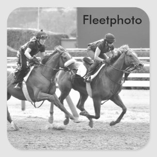Ogden Phipps Stables Workouts Square Stickers