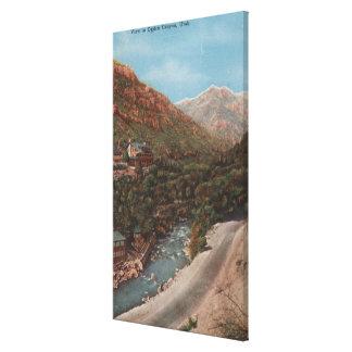 Ogden, Utah - Ogden Canyon View & River Canvas Print