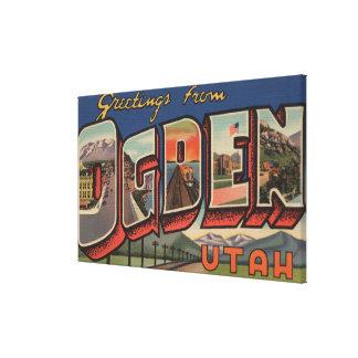 Ogden, Utah (Railroad) - Large Letter Scenes Canvas Print