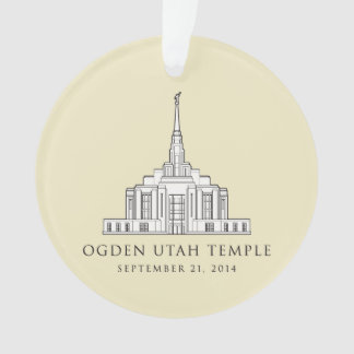 Ogden Utah Temple. Sept 21, 2014. ornament