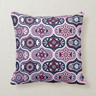 Ogee Navy Orchid Vintage Style Moroccan Pattern Cushion
