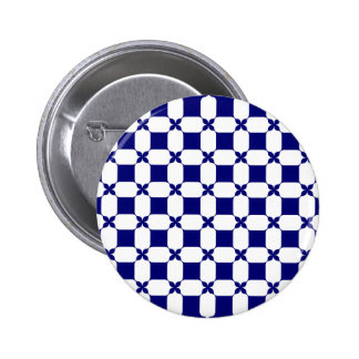 Ogee White & Navy.png 6 Cm Round Badge