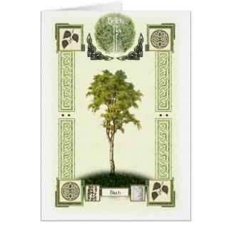 Ogham Birch Card