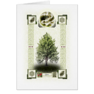Ogham runes - Ioho Greeting Cards