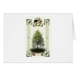 Ogham runes - Ioho Greeting Card