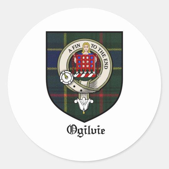Ogilvie Clan Crest Badge Tartan Classic Round Sticker