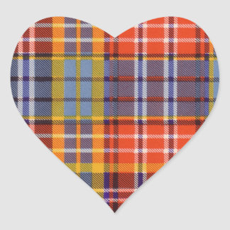 Ogilvie clan Plaid Scottish tartan Heart Sticker