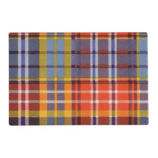 Ogilvie clan Plaid Scottish tartan Laminated Place Mat