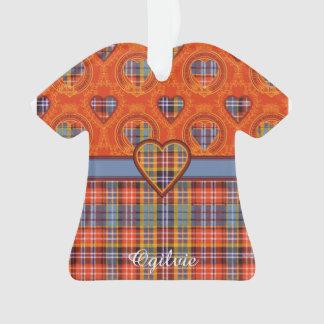 Ogilvie clan Plaid Scottish tartan Ornament