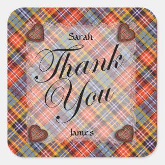Ogilvie Scottish clan tartan - Plaid Square Sticker