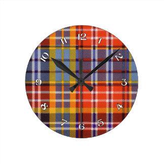 Ogilvie Scottish tartan Round Clock