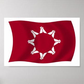 Oglala Lakota Flag Poster Print