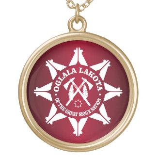Oglala Lakota Gold Plated Necklace