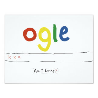ogle_am i lucky 11 cm x 14 cm invitation card