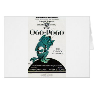 Ogo-Pogo, The Funny Fox-Trot, ShukerNature Greeting Card