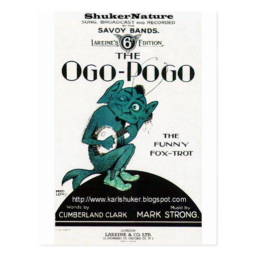 Ogo-Pogo, The Funny Fox-Trot, ShukerNature Postcards