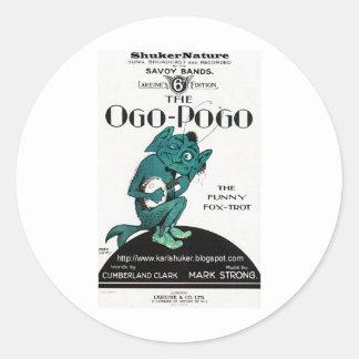 Ogo-Pogo, The Funny Fox-Trot, ShukerNature Round Sticker