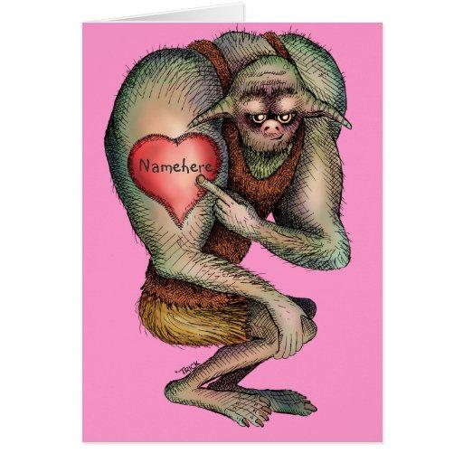 Ogre Proud of Heart Tattoo (change name on tattoo) Card