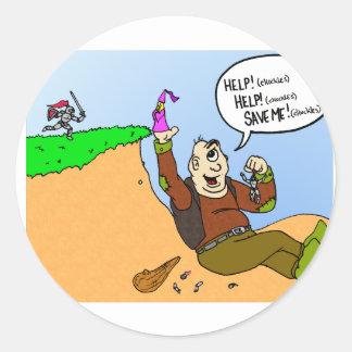 Ogre tricks Knight Round Sticker