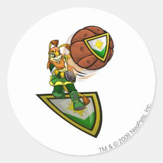 Ogrin Brightvale Player Round Sticker
