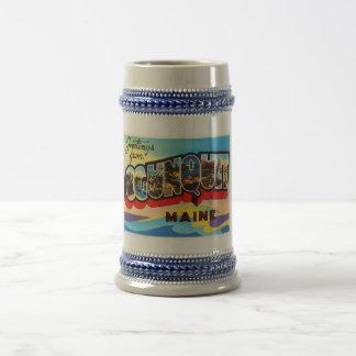Ogunquit Maine ME Old Vintage Travel Souvenir Beer Stein