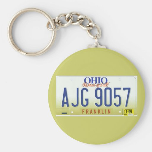 OH99 BASIC ROUND BUTTON KEY RING