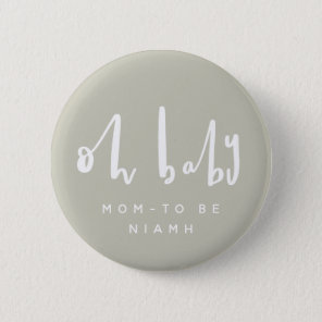 OH baby, baby shower buttons