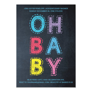 Oh Baby | Baby Shower Invitations | Color Chalk 2