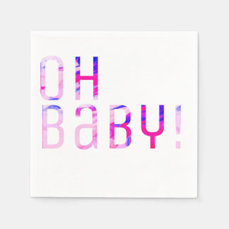 OH BABY! (Gender Reveal) Paper Napkins
