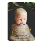'Oh, baby!' Gold Faux Foil | Birth Announcement 13 Cm X 18 Cm Invitation Card
