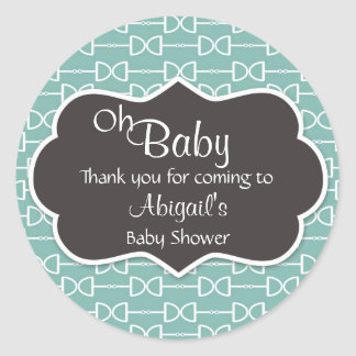 Oh Baby Horse Bit English Snaffle Baby Shower Round Sticker