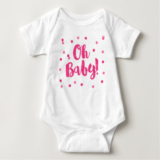 Oh Baby | Hot Pink Confetti Dots Baby Bodysuit