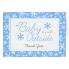 Oh Baby It's Cold Outside Blue Thank You Card