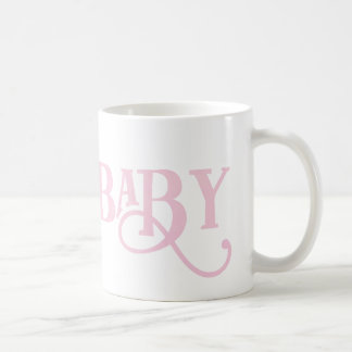 Oh Baby Personalized Pale Pink Modern Typeface Basic White Mug