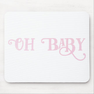 Oh Baby Personalized Pink Girly Girl Mouse Pad
