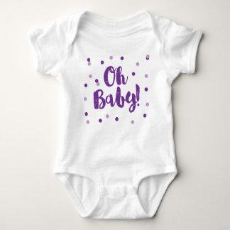 Oh Baby | Purple Confetti Dots Baby Bodysuit