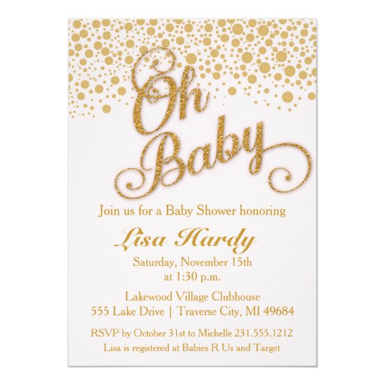 Oh Baby Shower Invitation | Blush Pink and