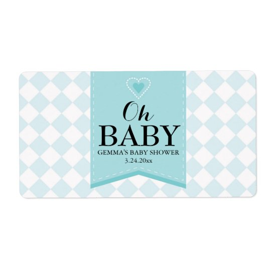 Oh Baby Shower Mini Champagne Label Boy