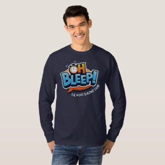 Oh Bleep Logo Tee -- Mens LS (logo large)