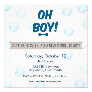 Oh Boy Baby Shower Invitation