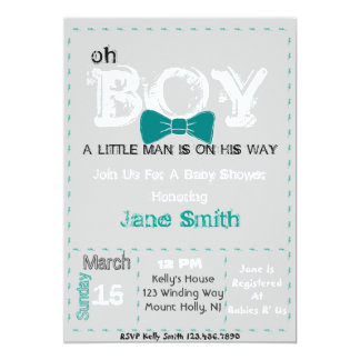 Oh Boy Baby shower invite