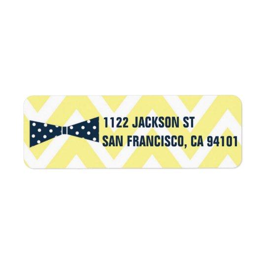 OH BOY Bow Tie Chevron Return Label