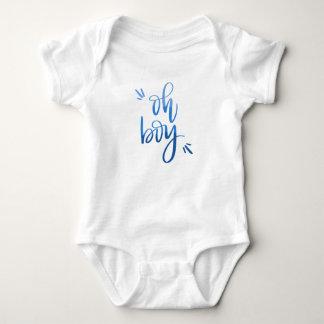 Oh Boy - Calligraphy Baby Bodysuit