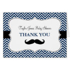 Oh Boy Moustache Baby Shower Thank You Card