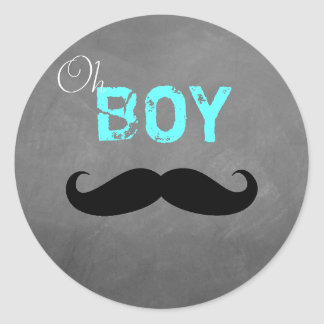 Oh Boy Mustache Sticker