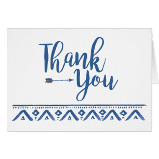 Oh Boy Tribal Baby Shower Thank You Card