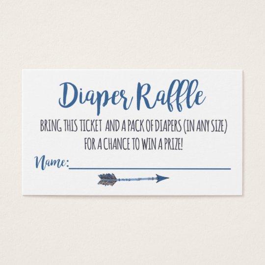Oh Boy Tribal Diaper Raffle Tickets