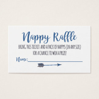 Oh Boy Tribal Nappy Raffle Tickets