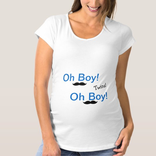 Oh Boy Twins Funny Maternity Shirt