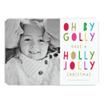 Oh by Golly | Holiday Photo Card Personalised Invitation